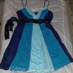 City Triangles Blue Dress